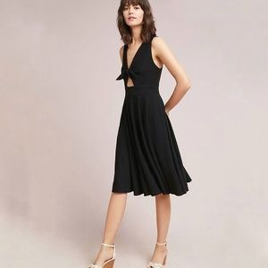 Hutch black sleeveless April bow front dress